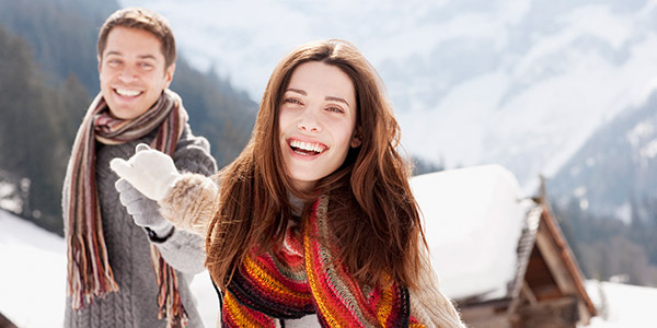 couple outdoor during winter